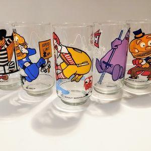 Vintage McDonaldland Collector Glasses set of 5